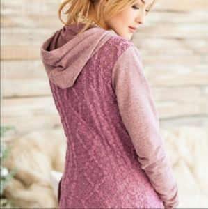 Evy's Tree Lace Back Sweater Cardigan